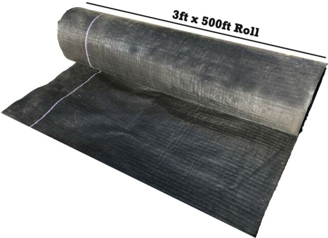 3 Ft X 500 Feet Roll Premium Woven Ground Cover Landscape Fabric Weed Control For Sale Online