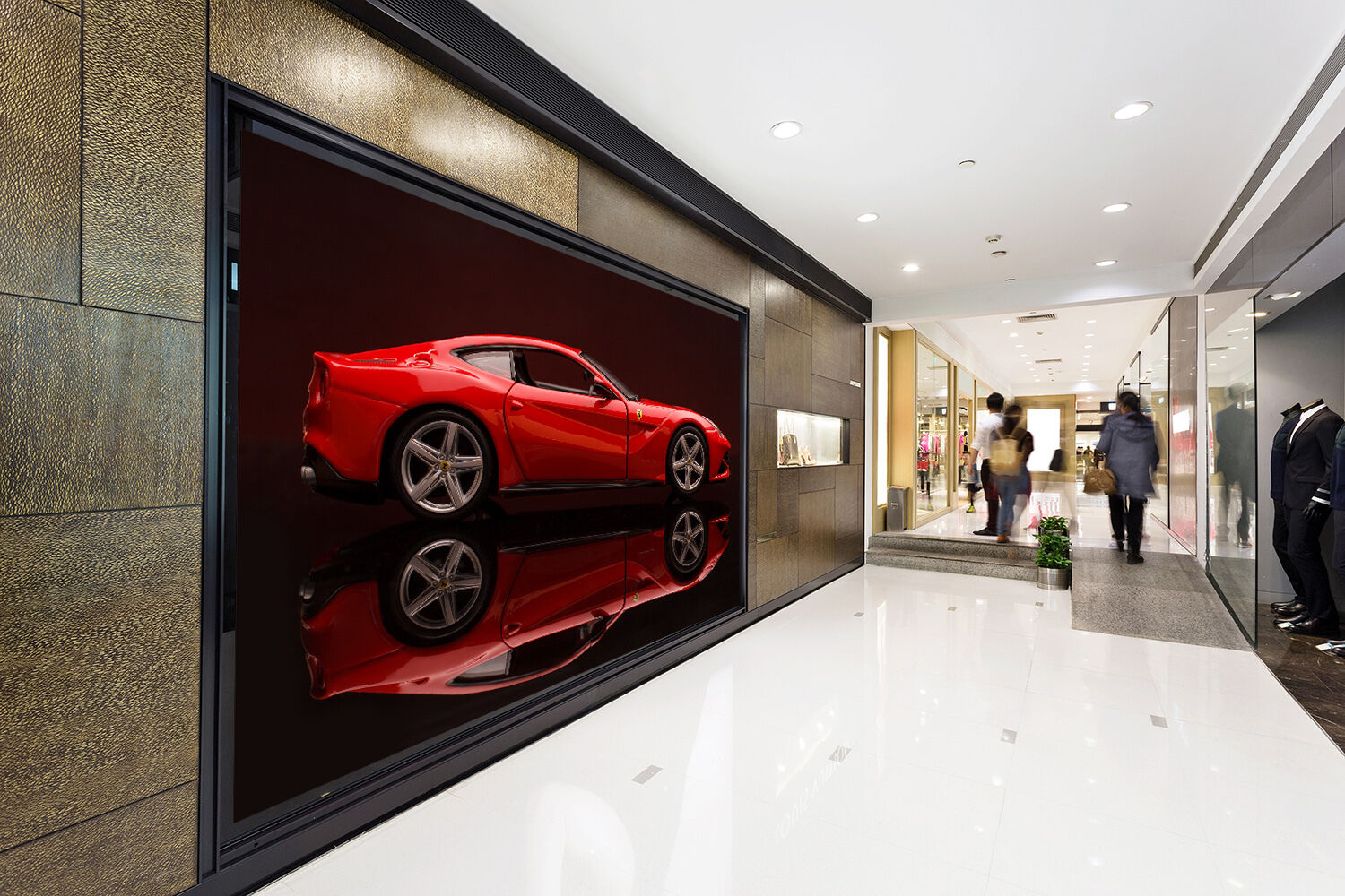 3D Red sports car 243 Wall Paper Wall Print Decal Wall Deco Indoor Wall Murals