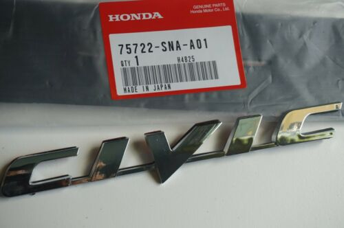 HONDA CIVIC 06-11 Trunk Emblem Rear Badge Nameplate 75722-SNA-A01 logo word SI