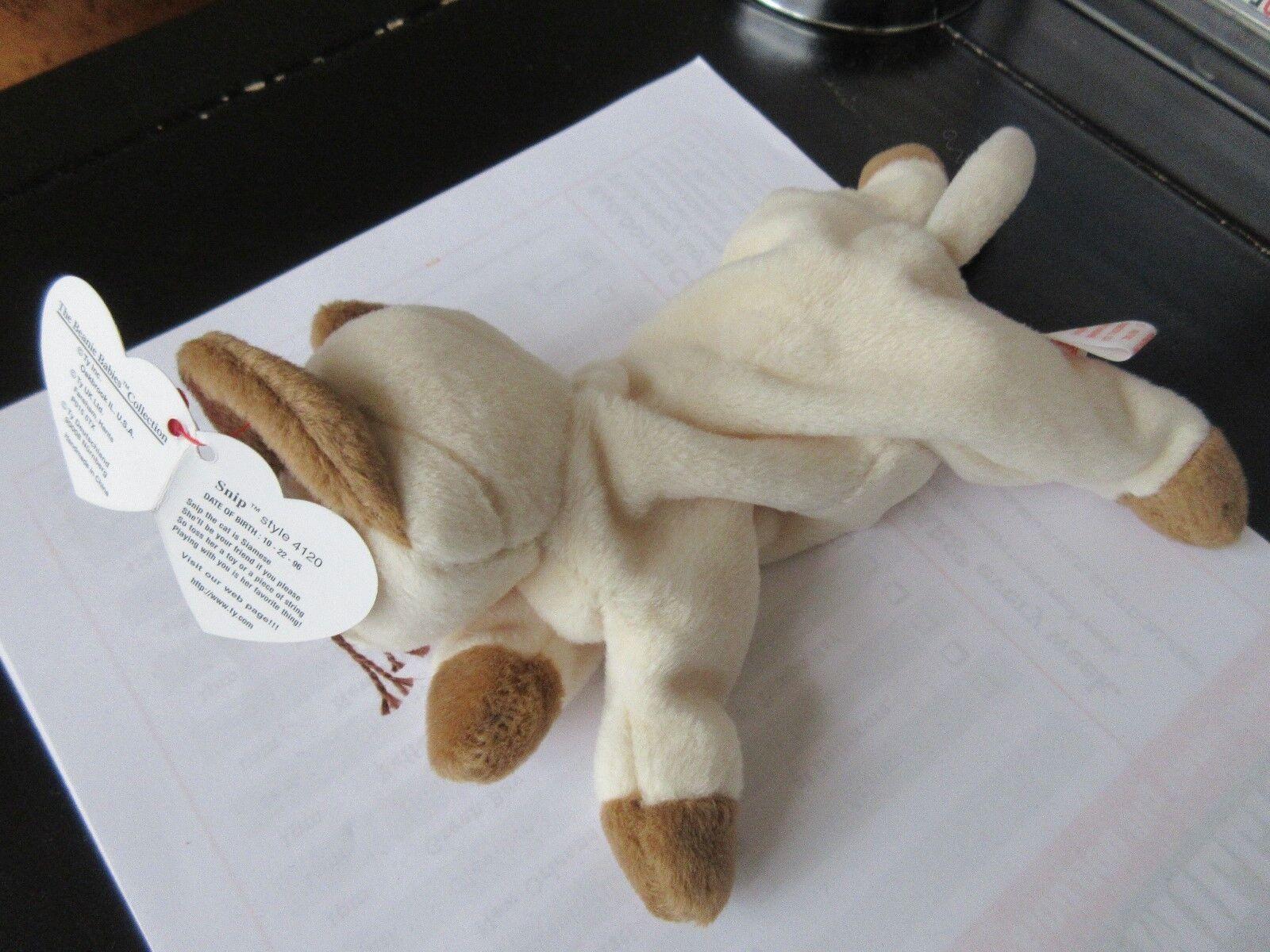 TY Beanie Baby , SNIP , Original , Style 4120 , 1996 TY INC.