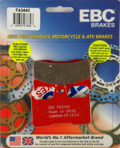 Yamaha YFM660FA Grizzly 4x4 IRS EBC BRAKE PADS Fits
