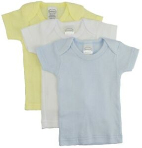 Bambini Newborn Boys Clothes Pastel Variety 3 Pack Long Sleeve Lap T-shirts Cute