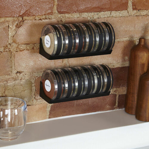 Hot Seasoning Cans Cylindra Spice Rack Condiment Bottles Pepper Shakers Box HS