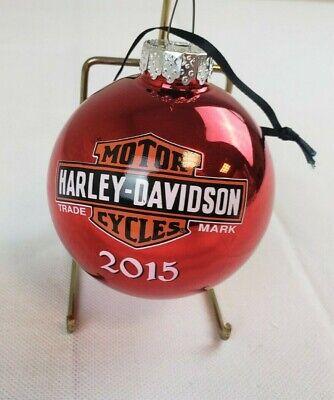 Harley Bike Motorbike Biker Ornament Motorcycle Christmas Ornament Blown Glass