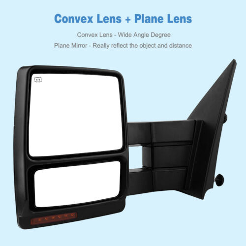 Power Heated Puddle Signals Towing Mirrors for 2004-2006 Ford F150 F-150 Truck