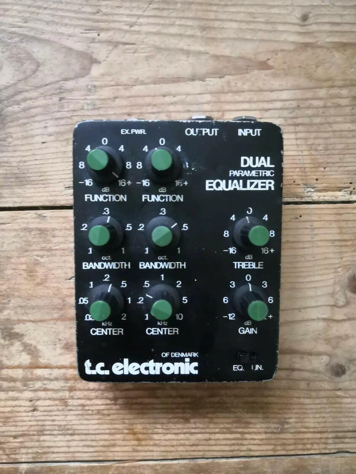 TC electronic dual parametric EQ equalizer guitar effects pedal