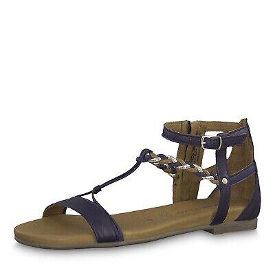 Tamaris Kim, Damen Sandalette Leder Touch It Navy Comb, Gr. 37 43   eBay