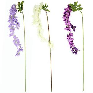 Large artificial wisteria stem wysteria silk flowers long spray image is loading large artificial wisteria stem wysteria silk flowers long mightylinksfo