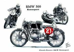 Bmw rennsport 500cc twin 1950s racing racer motorbike motorcycle image is loading bmw rennsport 500cc twin 1950s racing racer motorbike bookmarktalkfo Choice Image