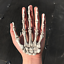 Halloween-Skull-Skeleton-Human-Hand-Bone-Zombie-Party-Terror-Adult-Scary-Props miniature 3