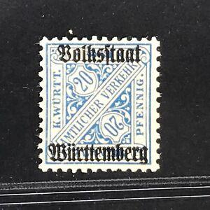 Wuerttemberg-Mi-Nr-264-c-postfrisch-und-gestempelt-geprueft