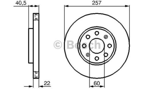 2x BOSCH Bremsscheiben Bremsensatz Für Fiat Punto Evo 1.4 Natural Power 1.2 1.4