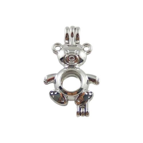 2pcs Jewelry Making Alliage Assorted Creux 3D argent petit médaillon Pendentifs chamrs
