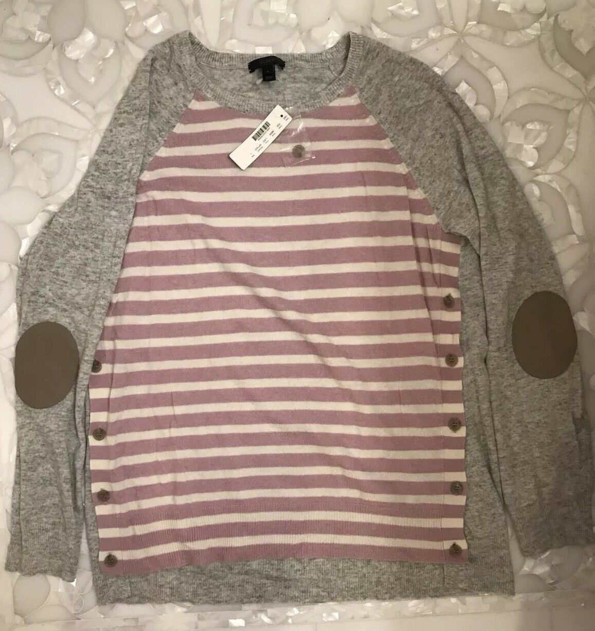 J Crew Large Striped Sweater
