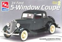 AMT ERTL 1:25 '34 Ford 5-Window Coupe Plastic Model Kit #8214