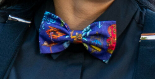 2019 D23 Expo Walt Disney Imagineering WDI MOG Haunted Mansion Bow Tie Bowtie