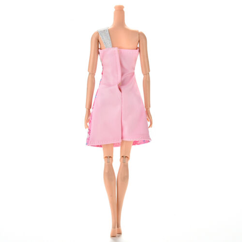 """1 Pc Beautiful Single Shoulder Sequin Sweet Heart Dress for 11/"""" s Doll RS"""