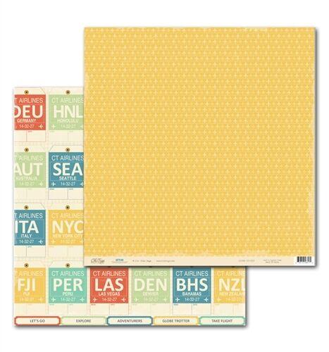 Chic Tags 2 sheets Destination Let/'s Go 12x12 Scrapbook Paper