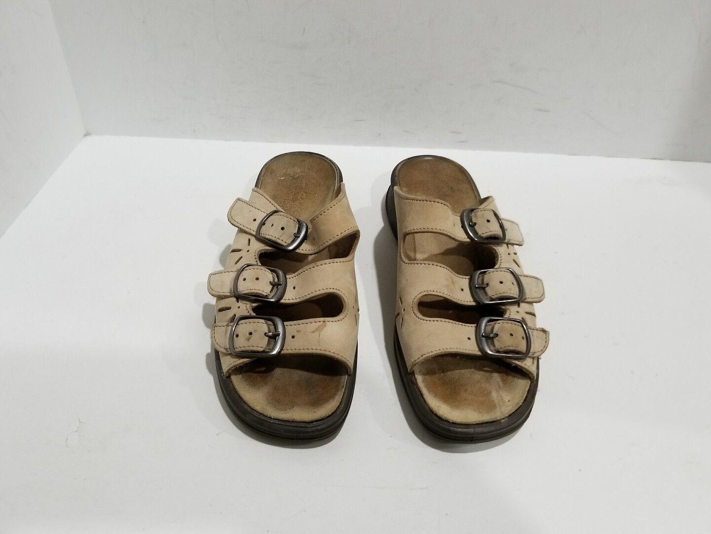 Clarks Slide Springers Womens Beige Suede Slide Clarks Sandals Size 6 M d42116