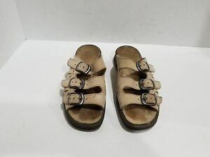 757ebd78ef1 Image is loading Clarks-Springers-Womens-Beige-Suede-Slide-Sandals-Size-