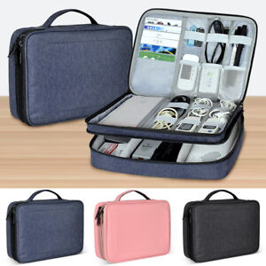 Portable-Electronic-Organizer-Storage-Bag-Travel-Hand-Bag-Cable-USB-Drive-Case
