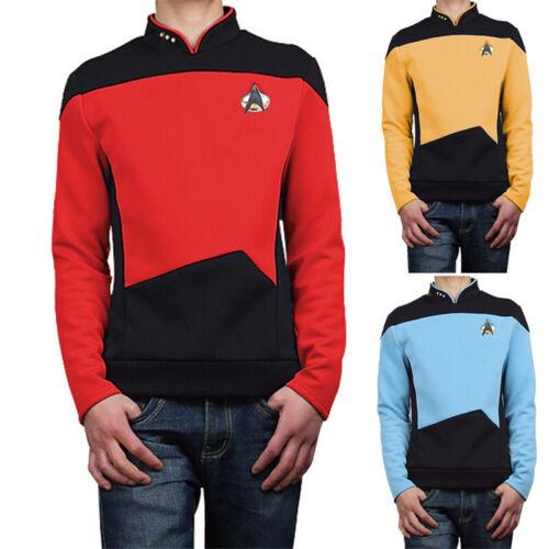 Star Trek TNG Cosplay Costume Shirt Starfleet Operations Uniforms Badge Set