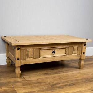 Corona-Coffee-Table-1-Drawer-Distressed-Waxed-Mexican-Pine-New-By-Home-Discount