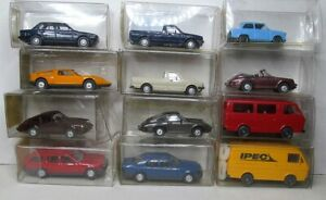 Wiking-1-87-bmw-3er-Mercedes-Porsche-911-VW-Golf-caddy-OVP-para-seleccionar