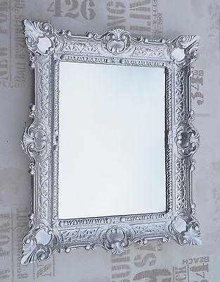 Muebles Antiguos Y Decoración Espejo De Pared Plata Antiguo Barroco Reproducción Baño Decoración 56x46 2 Arte Y Antigüedades