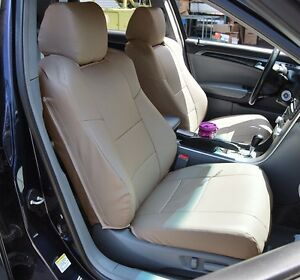 ACURA TL BEIGE SLEATHER CUSTOM MADE FIT FRONT SEAT COVER - 2004 acura tl seat covers