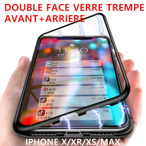 coque iphone xr avant arriere verre