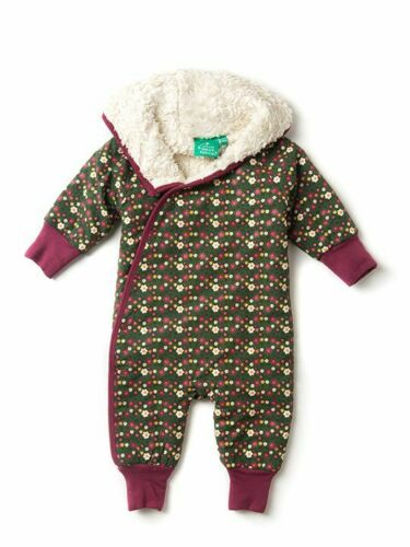 NEW Little Green Radicals Girls Organic Cotton Snuggle Suit Woodland Flower.