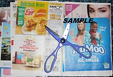 WHOLESALE LOT OF 25 COUPONS-GROCERY-PERSONAL CARE-ALL CUT & READY TO USE