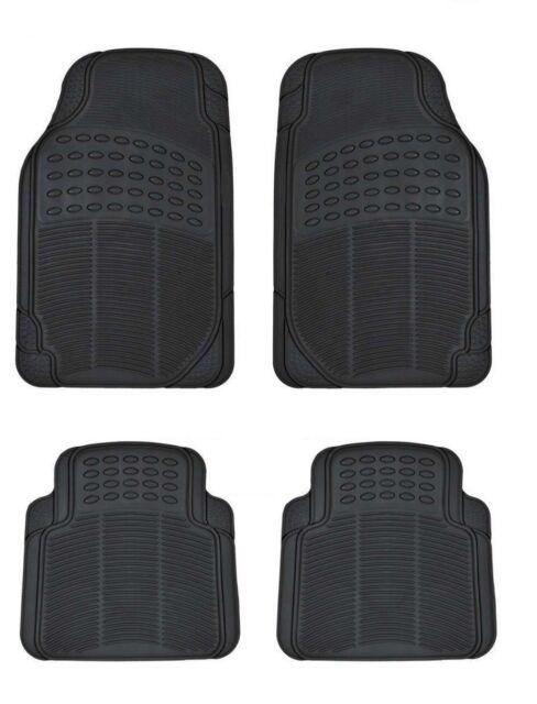 Fußmatten Schwarz Automatte Matten 4tlg. Gummimatten Auto Neu Universal