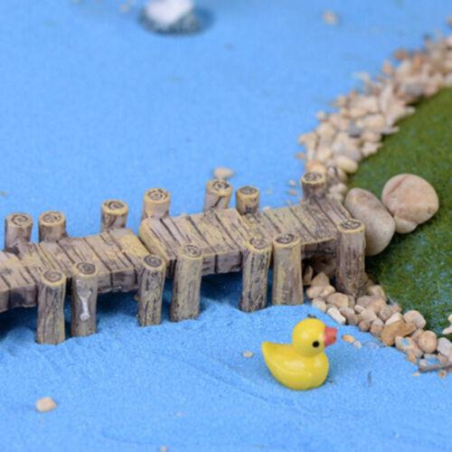 Mini pont en bois micro-paysage résine figurine jardin de fées