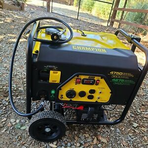Champion 100297 Dual Fuel Portable Generator with Electric Start