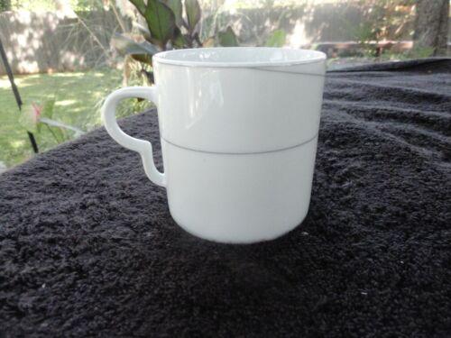 Mikasa Caviar Black Gray Swirls White Flat Cup