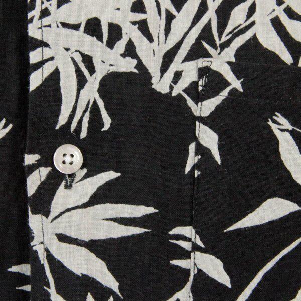 BNWT Edwin s/s chemise chemise été Nines Bambou chemise s/s lin Medium Noir 252068
