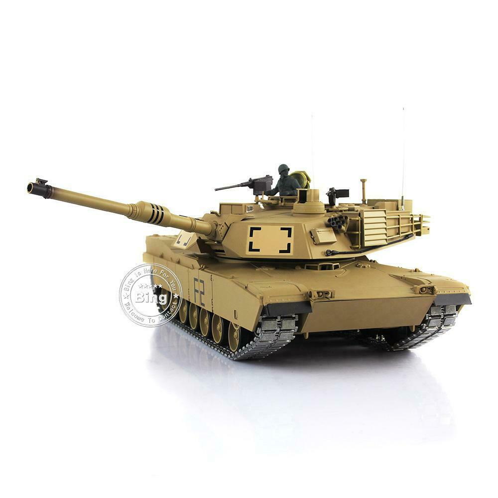 HengLong 1 16 USA M1A2 Abrams RTR RC Tank Upgraded Metal Ver Smoke Sound 3918