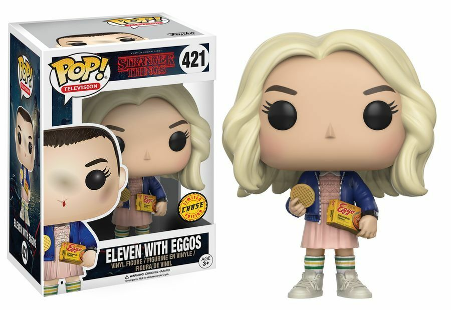 Stranger Things Eleven with Eggos Blonde Wig Chase Edition Pop  Vinyl Figure NEW