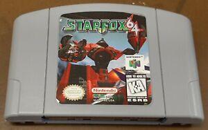 Nintendo N64 Starfox 64 Suelto Carro, limpiado & juego probadas, auténtico