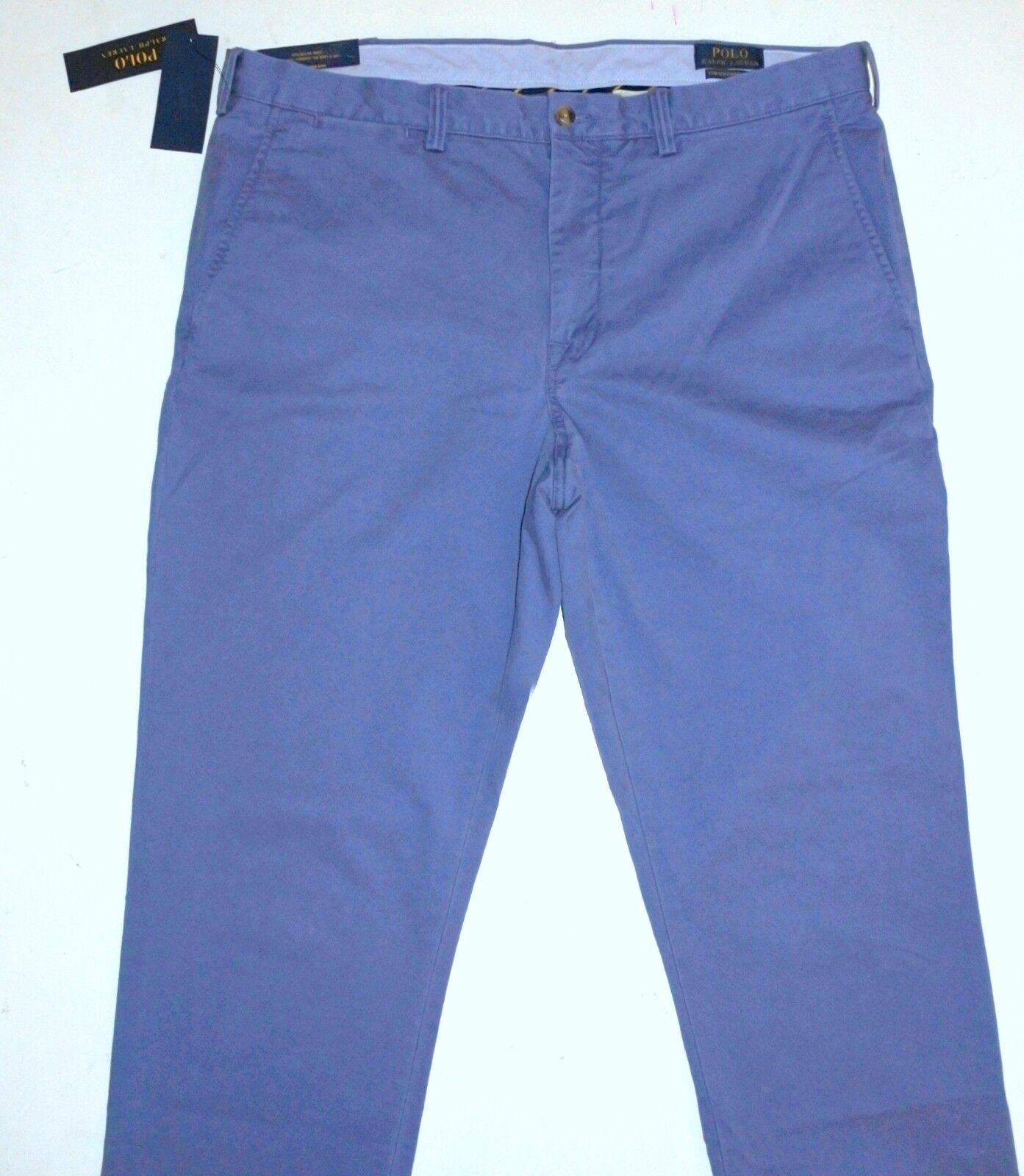 NWT Mens 36 34 Polo Ralph Lauren bluee Stretch Straight Fit Pants  Elastane