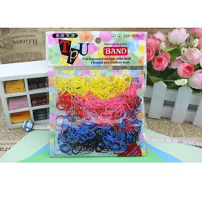 400pcs Women Rubber Hairband Rope Hair Band Ties Ponytail Holder Elastic