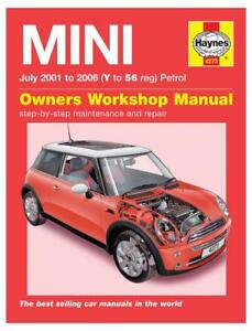 haynes owners workshop manual mini one cooper s 2001 2005 petrol rh ebay co uk mini one d workshop manual workshop manual mini one 2002