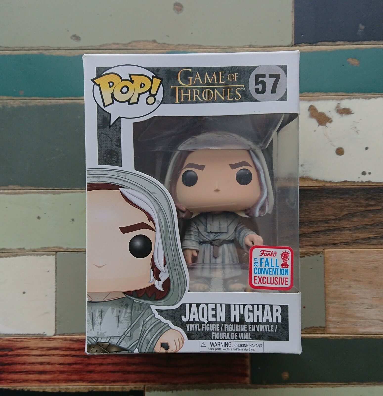 Funko Pop Juego of Thrones JAQEN H'Gar  57 Exclusive Fall Convention NYCC   NEUF