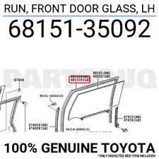 TOYOTA OEM 07-14 FJ Cruiser Front Door-Run Channel Left 6815135092