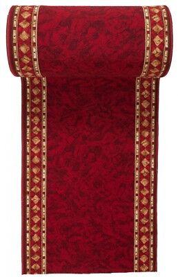 modern l ufer rot teppich meterware antirutsch 67 80 100. Black Bedroom Furniture Sets. Home Design Ideas