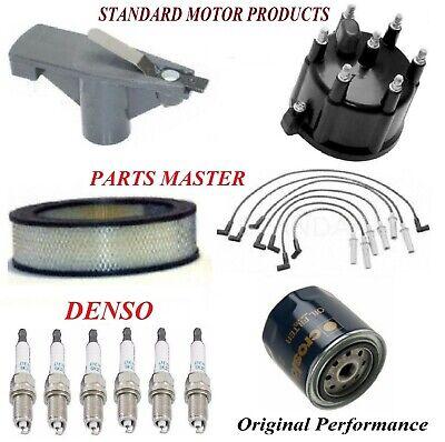 NEW Tune Up Kit Filters Cap Spark Plugs For DODGE DAKOTA V6; 3.9L 2002-2003