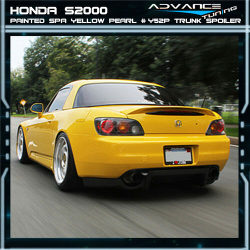 01-03 S2000 Ap1 2DR ABS Trunk Spoiler OEM Painted Color Spa Yellow Pearl # Y52P