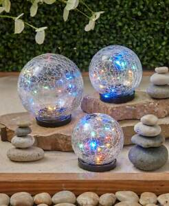 Solar-Accent-Crackle-Glass-Gazing-Ball-Globe-Garden-Patio-Pathway-Outdoor-Decor